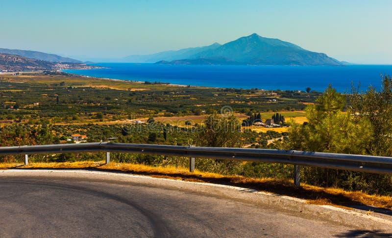 Samos island stock photo