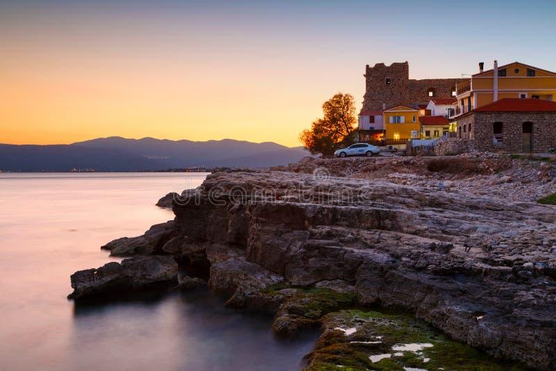 Samos Island. Castle in Pythagorio town on Samos island, Greece royalty free stock image