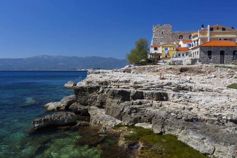 Samos island. Castle in Pythagorio town on Samos island, Greece royalty free stock photography