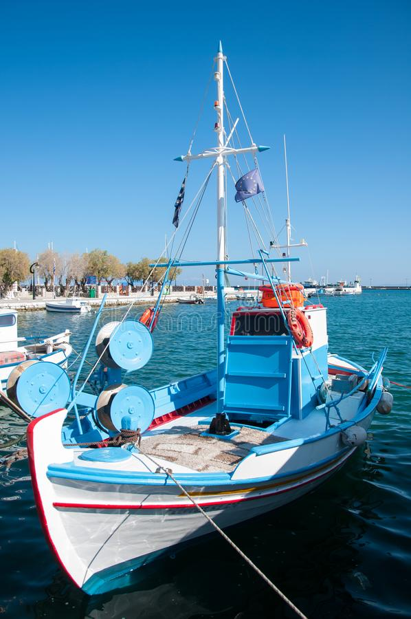 Samos island, Greece-June 04, 2019: Pythagorio, seafront. Samos island, Greece - June 04, 2019: Pythagorion village is a traditional Greek village on the coast stock photo