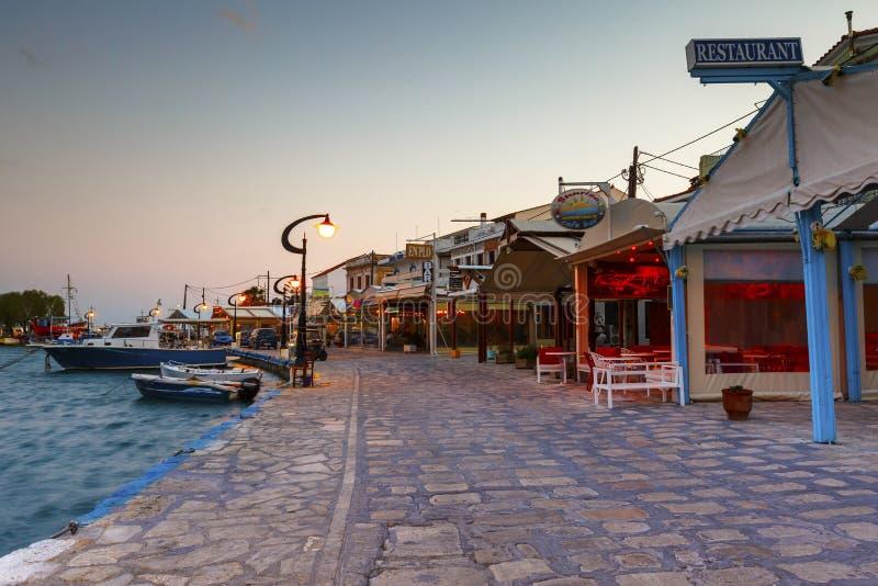 Samos island in Greece. Picturesque Pythagorio town on Samos island, Greece stock image