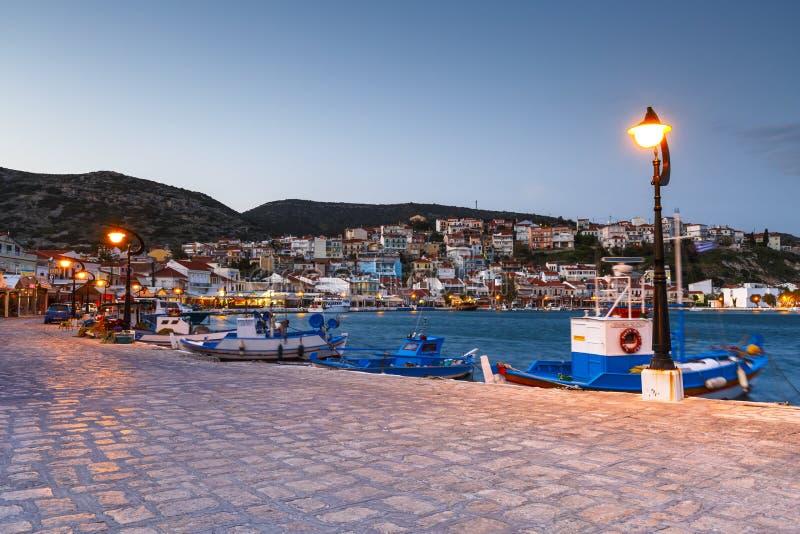 Samos island in Greece. Picturesque Pythagorio town on Samos island, Greece stock photos