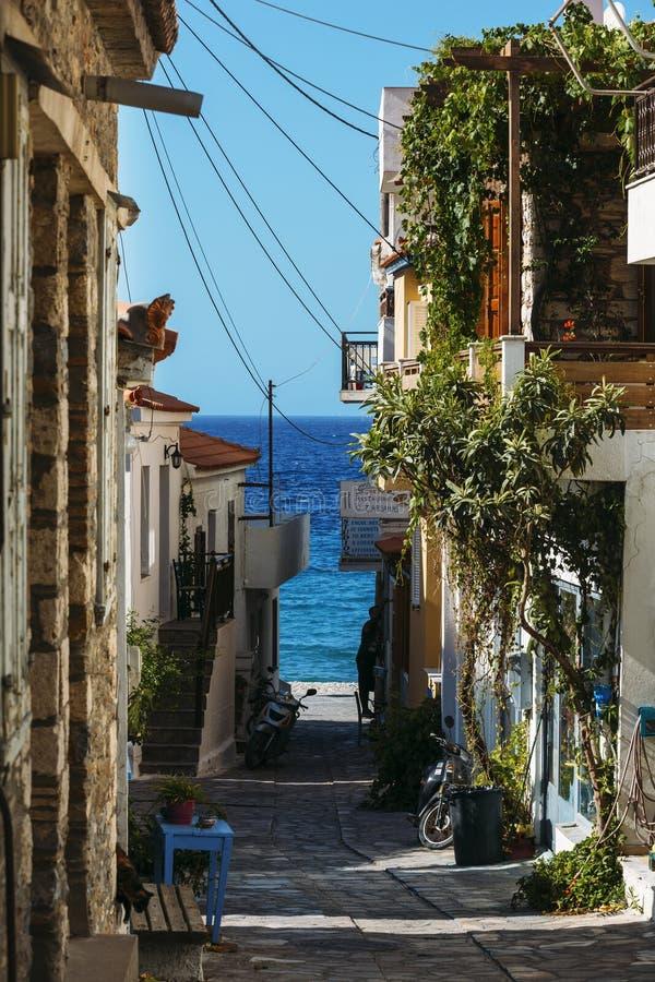 Kokkari on Samos island, Greece stock photo
