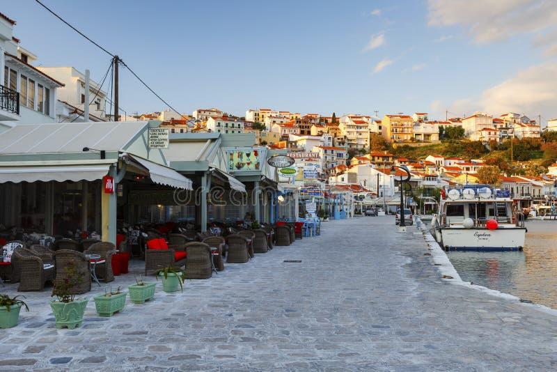 Samos Island. Harbor of Pythagorio town on Samos island, Greece royalty free stock image