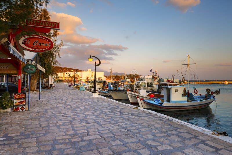 Samos Island. Harbor of Pythagorio town on Samos island, Greece stock photo