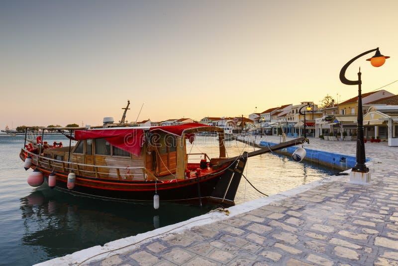 Samos Island. Harbor of Pythagorio town on Samos island, Greece royalty free stock photo