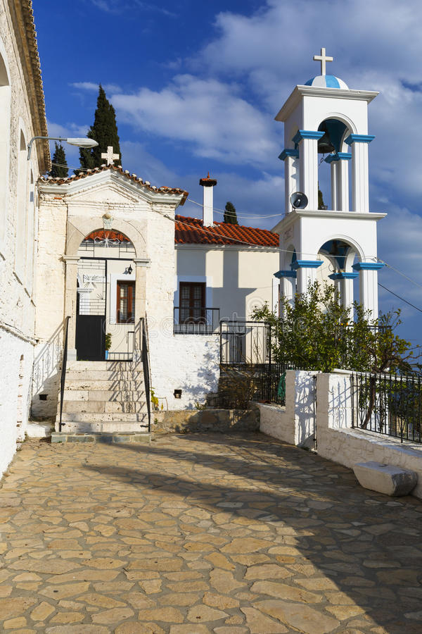 Samos island. Monastery near Pythagorio town on Samos island, Greece stock photos