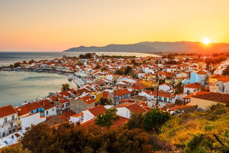 Samos Island. Picturesque Pythagorio town on Samos island, Greece stock images