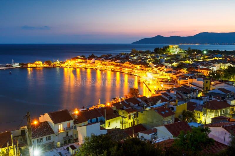 Samos Island. Picturesque Pythagorio town on Samos island, Greece stock photos