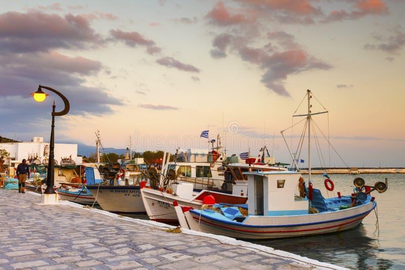 Samos Island. Pythagorio town on Samos island, Greece stock photography
