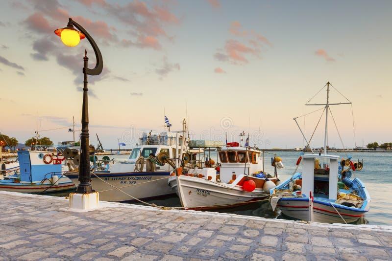 Samos Island. Pythagorio town on Samos island, Greece royalty free stock image