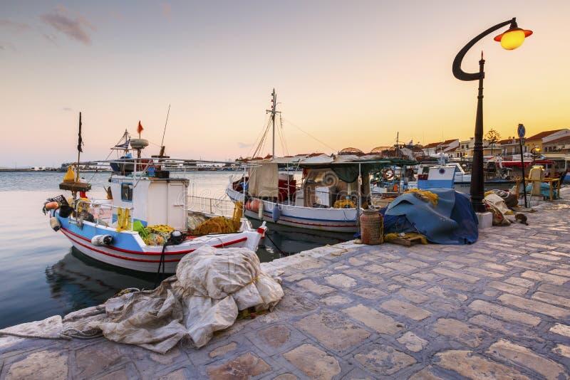 Samos Island. Pythagorio town on Samos island, Greece stock photo