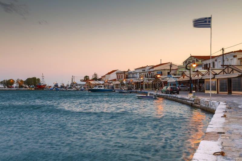 Samos Island. Pythagorio town on Samos island, Greece stock images