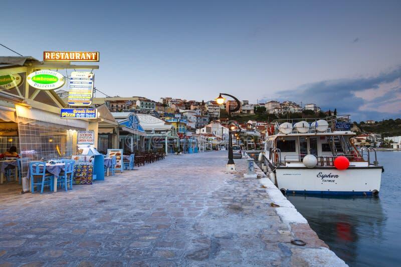 Samos Island. Pythagorio town on Samos island, Greece stock photos