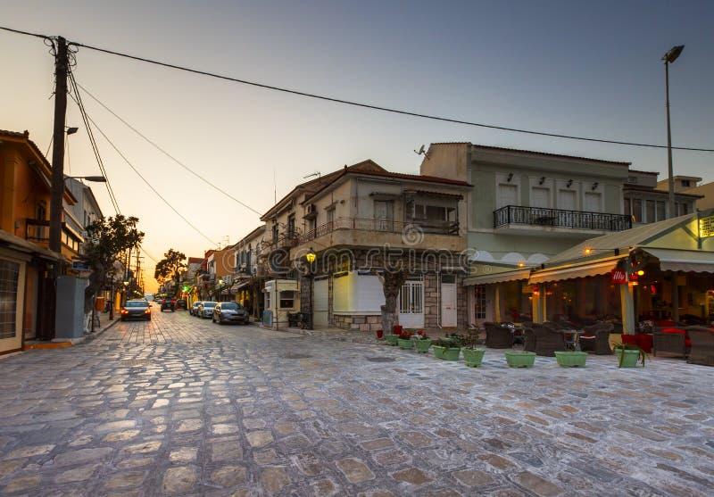 Samos Island. Pythagorio town on Samos island, Greece royalty free stock images