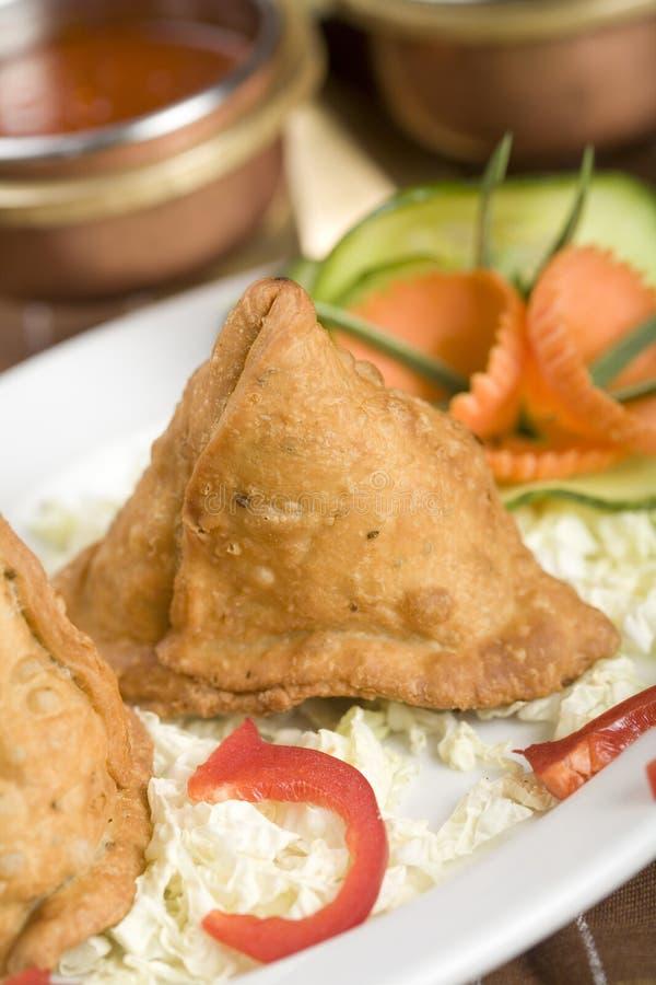 Samosa da batata, alimento indiano imagem de stock royalty free