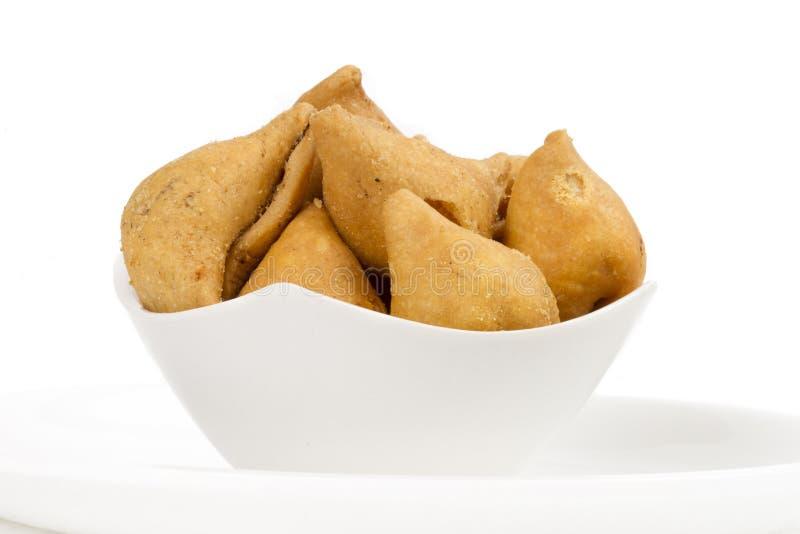 Samosa. Indian special traditional namkeen food `Dry Samosa stock photography