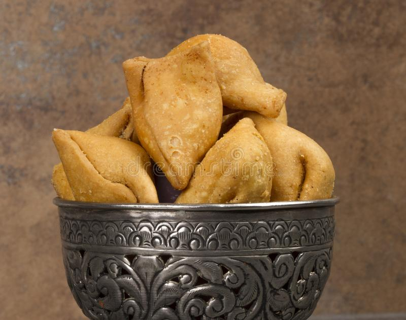 Samosa. Indian special traditional namkeen food `Dry Samosa royalty free stock images