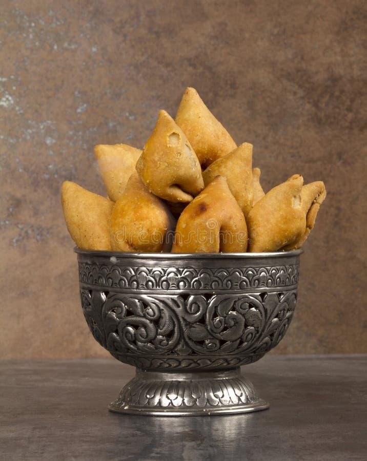 Samosa. Indian special traditional namkeen food `Dry Samosa stock images