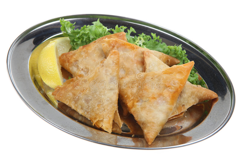 Samosas indien images stock