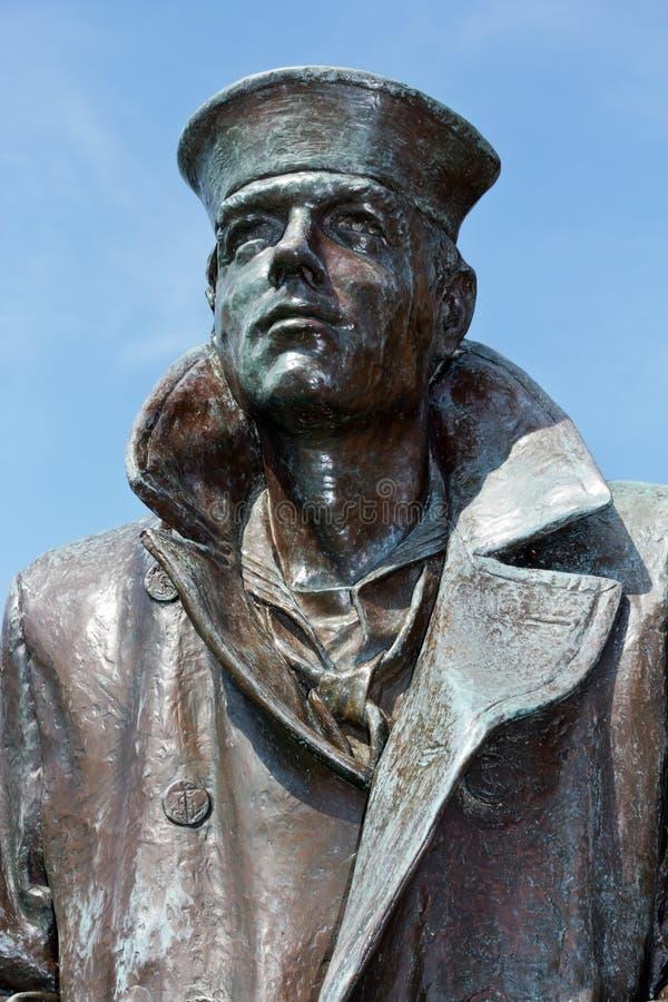Samotna żeglarz statua fotografia stock