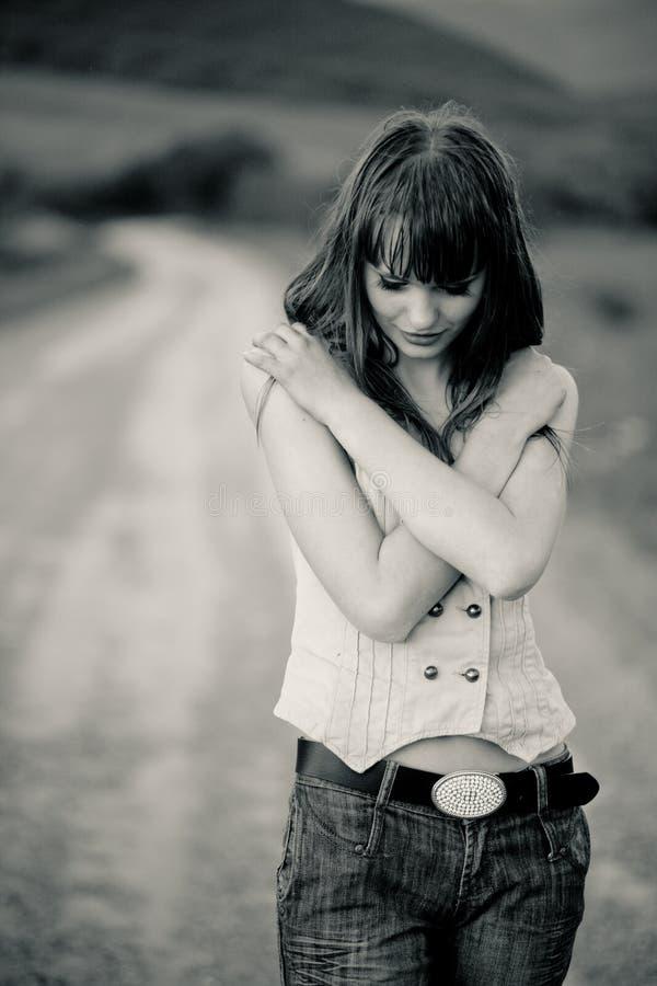 samotna dziewczyna fotografia royalty free