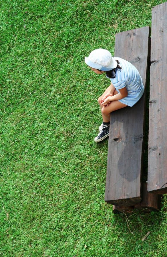 samotna dziewczyna dziecka zdjęcie stock