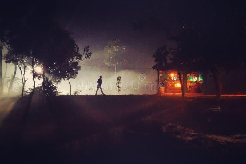 Samotnik w ulicie obrazy stock