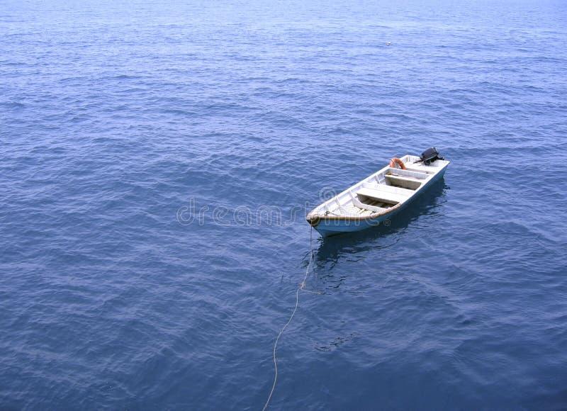 Samotny łowca łodzi Zdjęcia Royalty Free