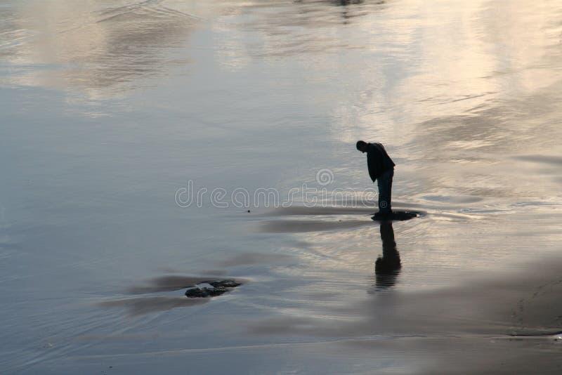 samotny człowiek obrazy stock