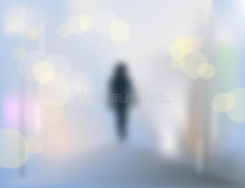samotny człowiek royalty ilustracja