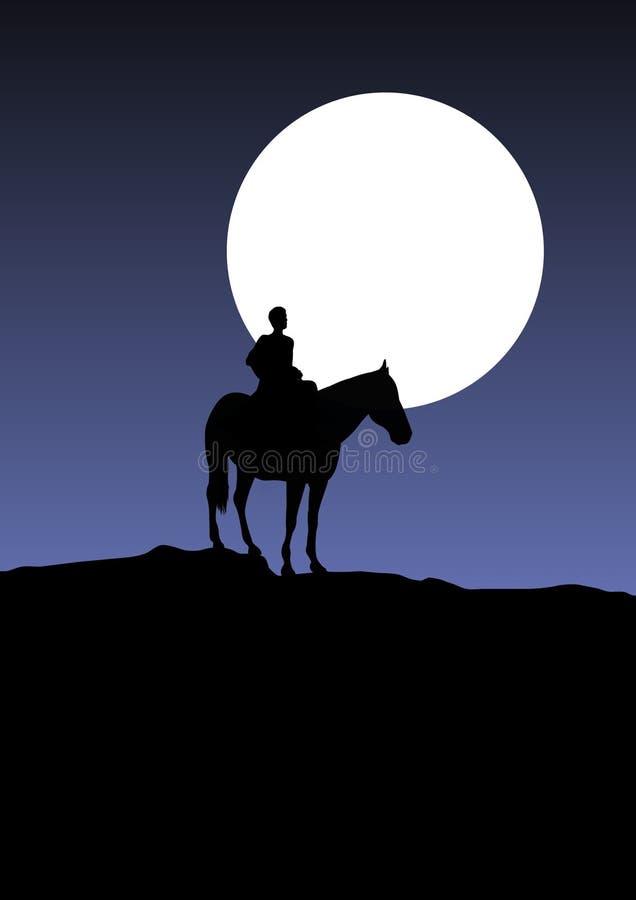 samotny jeździec ilustracja wektor