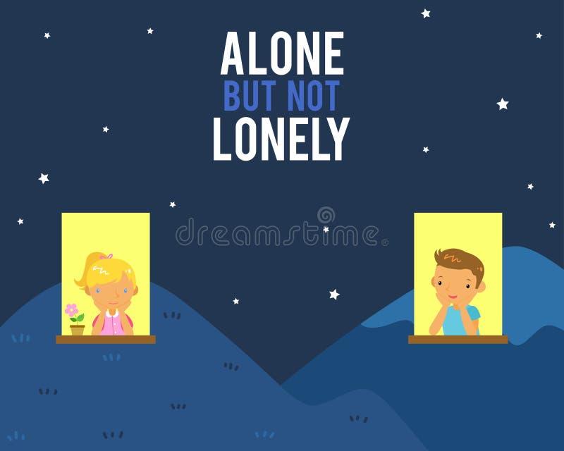 samotny osamotniony nie royalty ilustracja