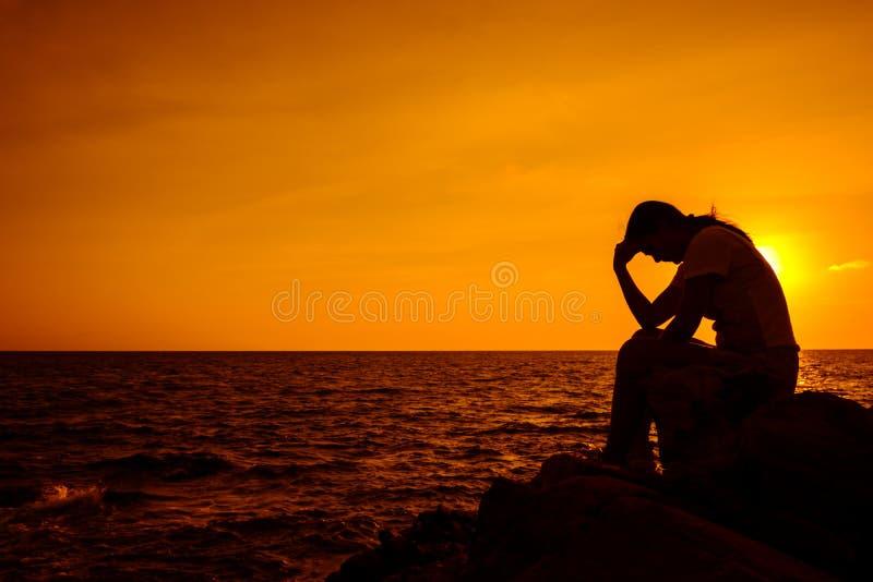 samotny, smutny fotografia royalty free