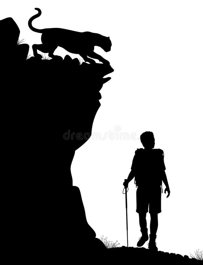 Samotny wycieczkowicz royalty ilustracja