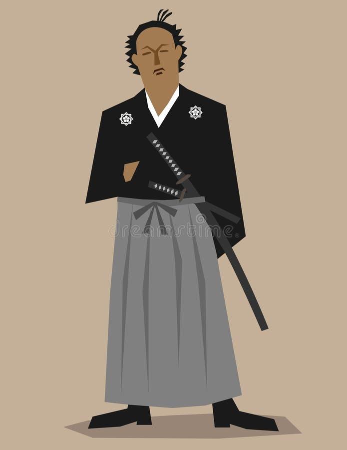 Samouraï illustration de vecteur
