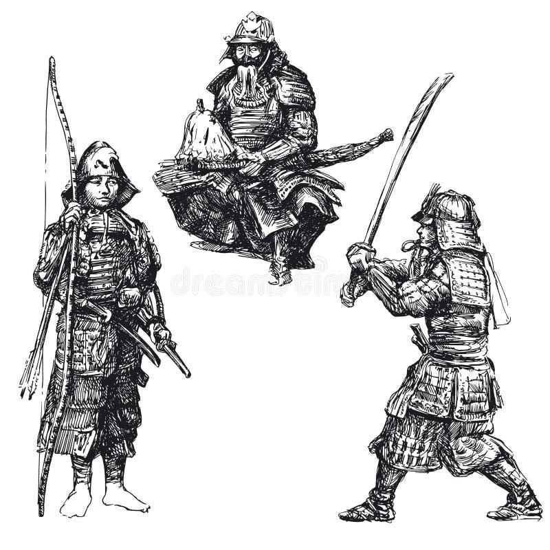 Samouraï - guerrier japonais illustration libre de droits