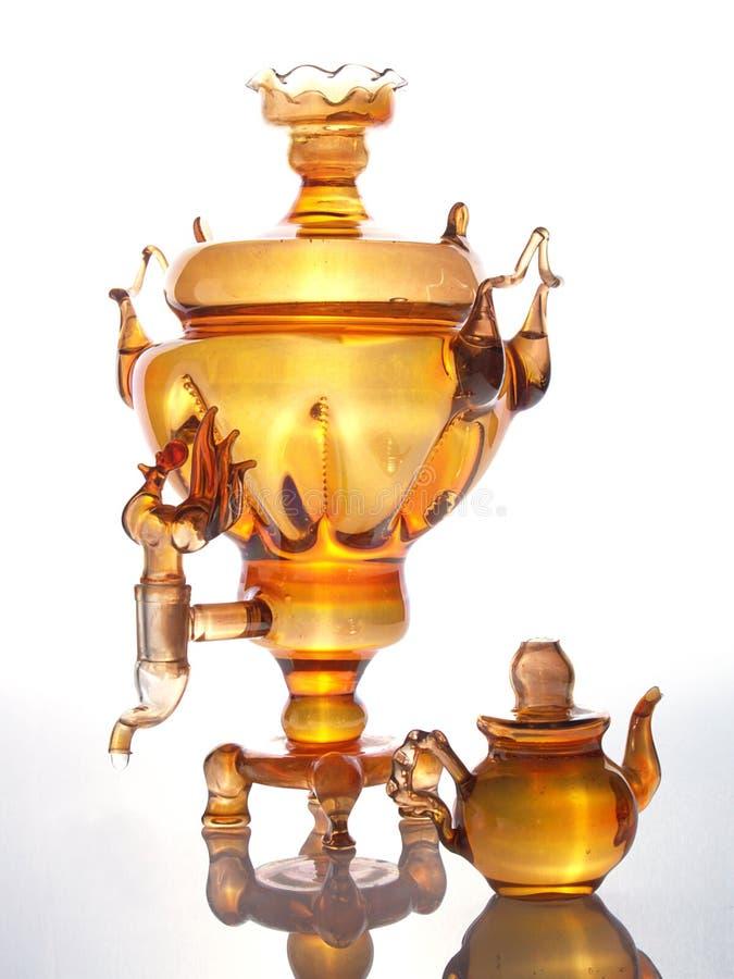 Samovar. Russia glass samovar royalty free stock images