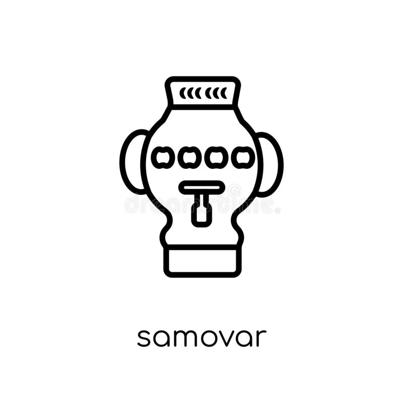 Samovar icon from Russia collection. vector illustration