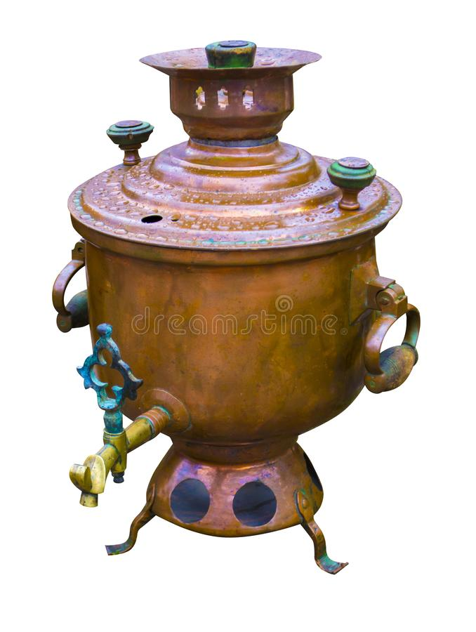 Samovar isolated on white background stock image