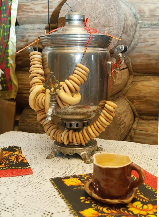 Samovar russian tradicional imagens de stock