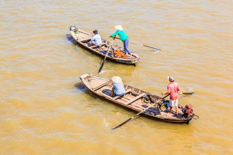 Sampana, delta de Mekong River, Mekong, Vietname fotografia de stock royalty free