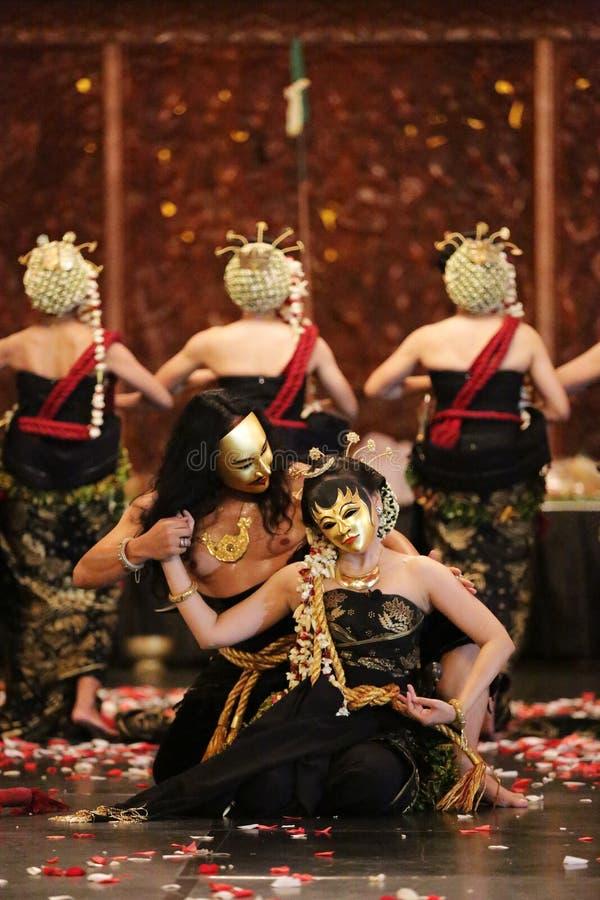 Samparan Matah Ati Traditional Dance royalty free stock photos