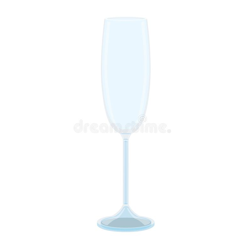 Glass of champagne crystal glass beer  spirits wine royalty free illustration