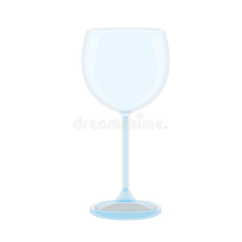 Glass of champagne on white background stock illustration