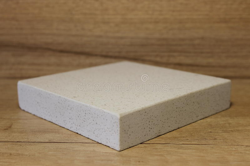 Sample acrylic artificial stone stock image