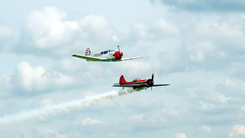 Sample aircraft airshow. stock photos