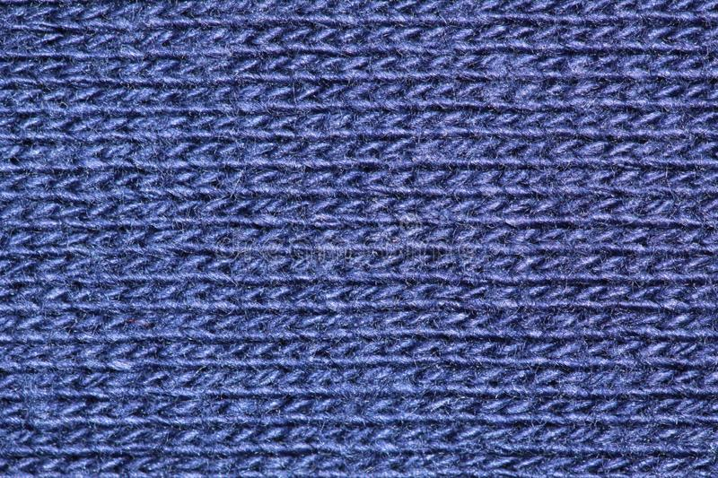 Blue cotton fibres royalty free stock images