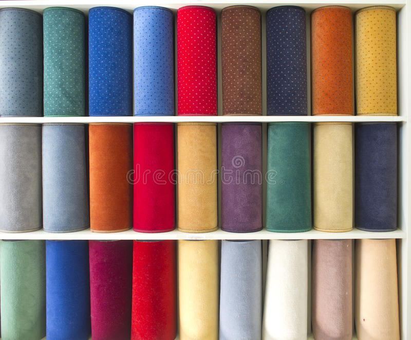 Sample of carpets royalty free stock images