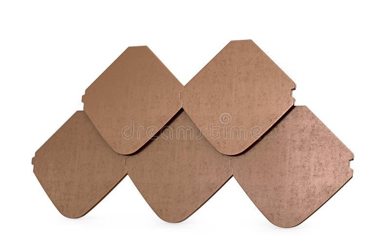 Sample of ceramic tiles,. Isolated on white background. 3D illustration vector illustration